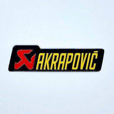 AKRAPOVIC LARGE Aluminium Heat Resistant Sticker Emblem Badge Decal Mx Exhaust • 3.19£