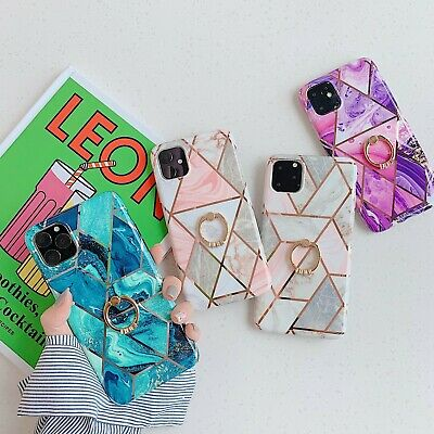 AU9.99 • Buy Marble Phone Case Finger Ring For IPhone 12 11 Pro Max XS Max XR X 8 7