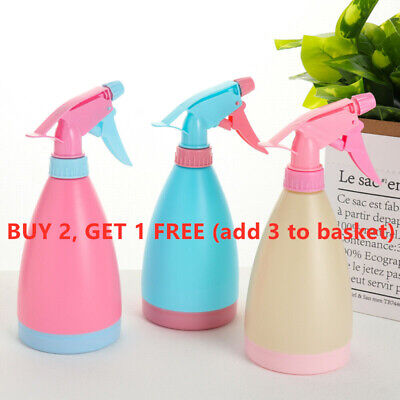 500mL Spray Bottle Plants Plastic Watering Hairdressing Tool Empty Candy Color~ • 2.99£