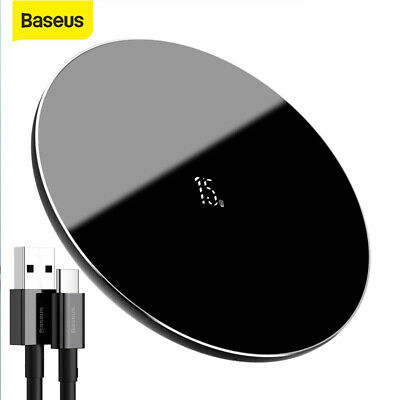 AU20.99 • Buy Baseus 15W Qi Fast Charging Pad Wireless Charger For Airpods IPhone 13 Pro Max