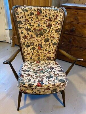 Ercol Vintage Windsor (478 Model) Armchair, Some Wear But Good Condition, H104cm • 180£