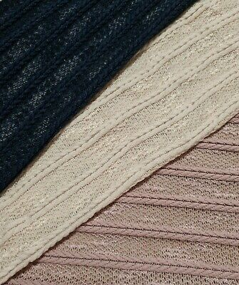 Knit Jersey Fabric Stripped Thin - Sold By The Metre • 4.89£