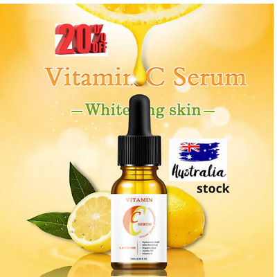 AU15.95 • Buy Vitamin C & E Face Serum With Hyaluronic Acid - Anti Ageing/Aging Anti Wrinkle