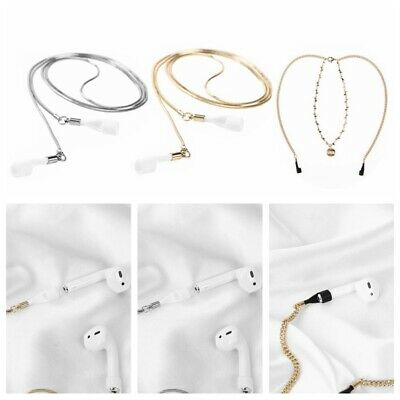 $ CDN7.10 • Buy Wireless Earphone Necklace Holder Metal Anti-lost Chain Rope For AirPods Strap