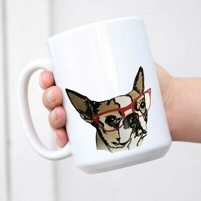Frenchie French Bulldog Tea Cup Coffee Mug • 9.73£