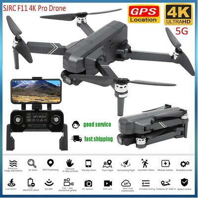AU351.32 • Buy SJRC F11 4K PRO Folding 5G Image Transmission 4K HD Camera Remote Control Drone