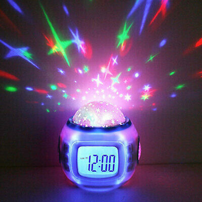AU22.25 • Buy New Music Star Sky Projection Calendar Thermometer Digital Alarm Clock Kids RC
