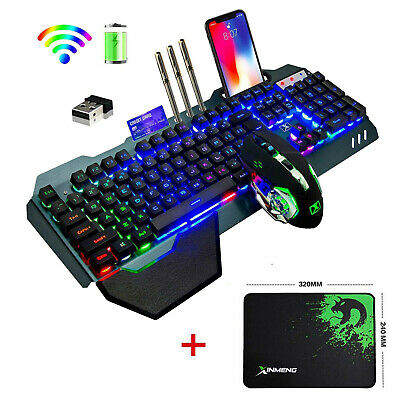 AU67.58 • Buy K680 Wireless Gaming Keyboard Mouse And RGB LED Mouse Pad Mechanical Feel Combo