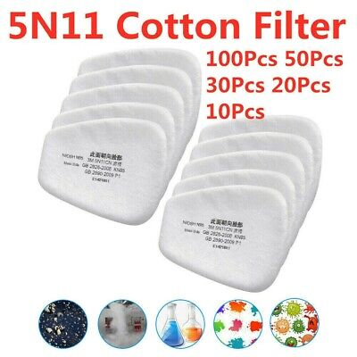 AU10.70 • Buy 5N11 Cotton Filter Safety Protective Respirator Work Filter Cotton Replacement
