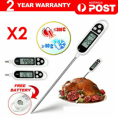 AU8 • Buy 2X Digital COOKING FOOD MEAT Stab PROBE THERMOMETER KITCHEN MEAT TEMPERATURE