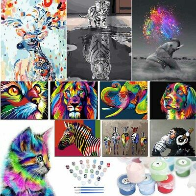 DIY Oil Painting Kit Paint By Numbers Acrylic Adult Children Beginners Frameless • 12.83£