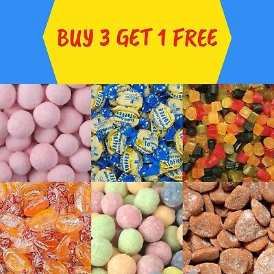 Traditional Sweets - Retro Sweets - Boiled Sweets - Humbugs - Toffees • 2.50£