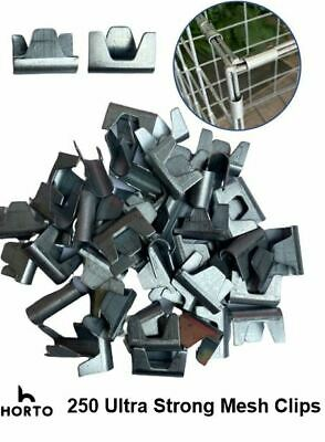 £12.95 • Buy 250 Large Wire Mesh Clips - Gabions, Cage Making, Mesh Panels *UK MADE* CT 35