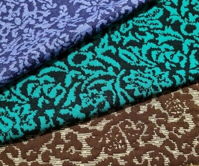 £5.32 • Buy Jacquard Stretch Knit Jersey (Thick Ponte) Fabric - Sold By The Metre
