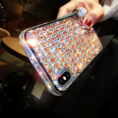 AU13.99 • Buy For IPhone 13 12 11 Pro Max XS XR 7 8 Luxury Check Rhinestone Diamond Case Cover