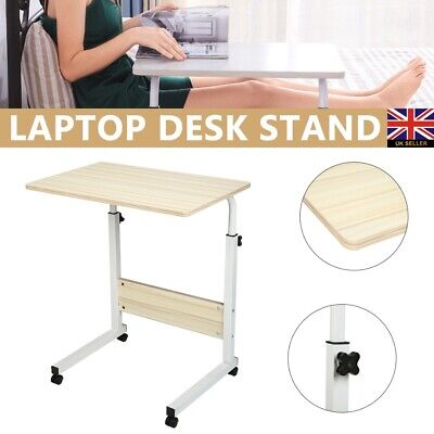 Adjustable Laptop Table Lift Foot Hold Stand Lap Sofa Bed Folding Computer Desk • 19.99£