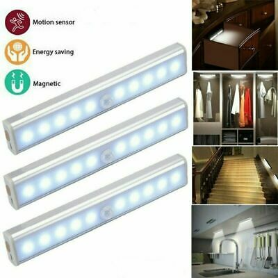 Human Body Infrared Induction LED Night Light Cabinet Closet Stair Wardrobe Lamp • 14.99£