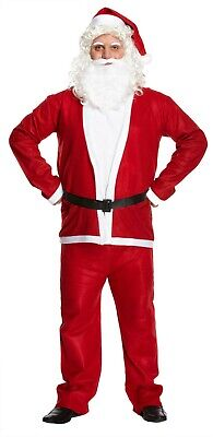 £10.99 • Buy Santa Claus Costume Christmas Suit Adult Fancy Dress Outfit One Size