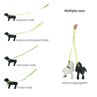 AU22.79 • Buy 2M 2 Way Dog Leash Dual Lead Two Dogs Adjustable Pet Play Puppy Outdoor Walking