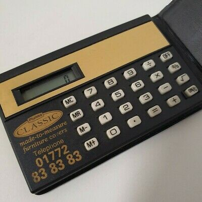 Vintage Credit Card Wallet Pocket Calculator In Excellent Working Condition. • 8£