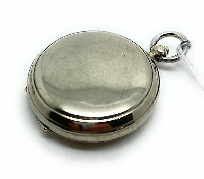 A Working Nickel WWII Military Full Hunter Compass Pocket Watch Style • 80£