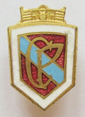 """£14.99 • Buy CRYSTAL PALACE - Vintage Crest Style Enamel Football Pin Badge """"CP"""""""