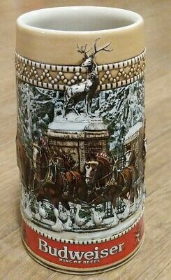 $ CDN22.47 • Buy Budweiser Collectible Holiday Beer Stein 1987  C  Series Clydesdales Parading