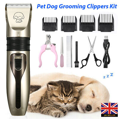 Pet Dog Cat Nail Claw Clipper Grooming Grinder Electric File Trimmer Tool UK • 8.99£