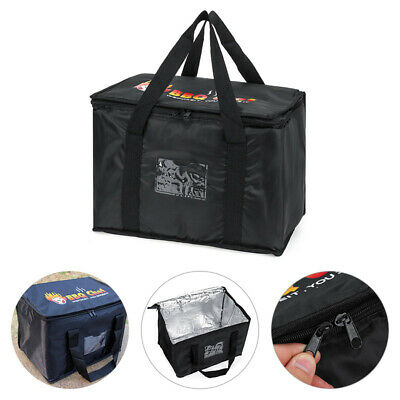 Hot Food Pizza Takeaway Restaurant Delivery Bag Thermal Insulated 43x30x31cm • 11.89£