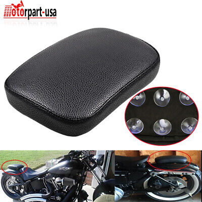 $12.95 • Buy Rear Rectangle Pillion Passenger Seat Pad 6 Suction Cup For Harley Softail Dyna