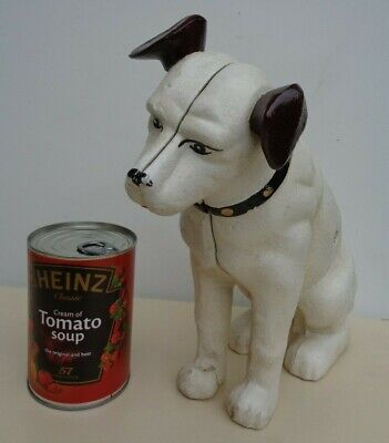 Fantastic Large Model Of The HMV `Nipper`Dog STATUE Money Box • 34.75£