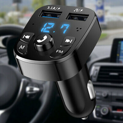 Bluetooth5.0 Wireless Handsfree Car FM Transmitter MP3 Player 2 USB Charger Kit • 4.99£
