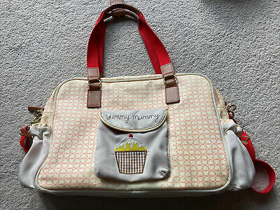 Yummy Mummy Pink Lining Changing Bag Red Hearts  • 10£