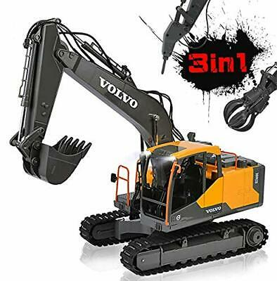 DOUBLE E RC Excavator Construction Truck 17 Channel 1/16 Scale Truck Digger Toy • 104.99£