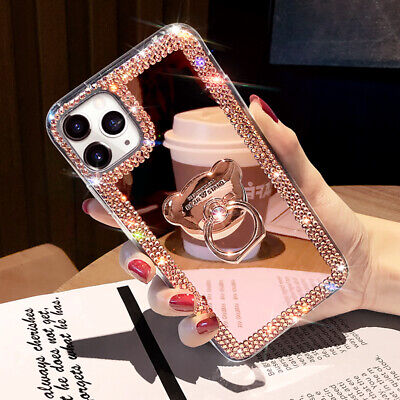 AU15.99 • Buy For IPhone 12 Pro Max 11 XS XR 6 7 8 Glitter Bling  Mirror Diamond Case W/ Ring