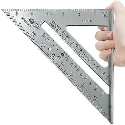 7  Aluminium Set Square Tri-square Mitre Saw Guide Measure Roofing Speed Ruler • 4.99£