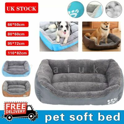 Dog Beds Pet Cushion Bed House Soft Warm Kennel Blanket Nest Washable S-XXL • 15.99£