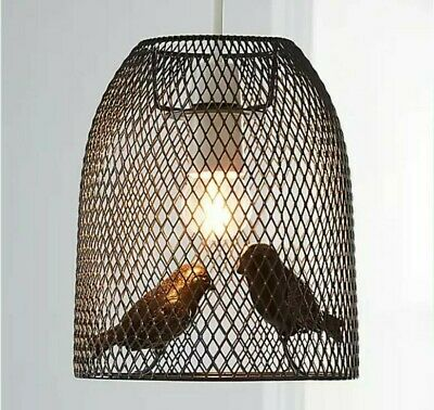 £31.99 • Buy RARE Grey Pendant Ceiling Light Shade Bird Cage Style Home Decor Easy Fit NEW