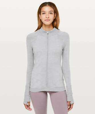 $ CDN74.85 • Buy NWT & NWOT Lululemon Time To Thrive Jacket Heathered Silver Drop | SIZE: 2, 10