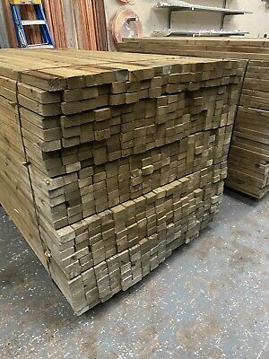 3x2 (38x63f) Kiln Dried Imported CLS Timber Pressure Treated Green 1.8m C16 • 4£