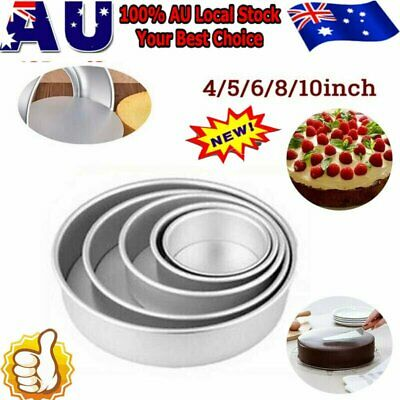 AU10.92 • Buy 4/5/6/8/10 Inch Cake Mold Round DIY Cakes Pastry Mould Baking Tin Pan Reusable W