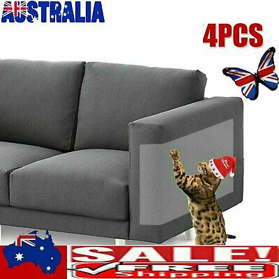 AU11.56 • Buy 4PCS Clear Cat Scratch Guard Shield Furniture Sofa Walls Pet Couch Protector &H