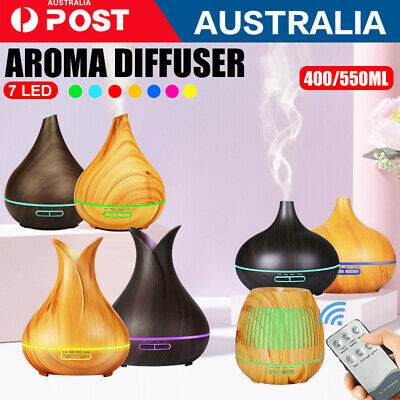 AU22.99 • Buy Aroma Aromatherapy Diffuser LED Oil Ultrasonic Air Humidifier Purifier 400/550ML