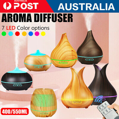 AU27.45 • Buy 400/550ML Aroma Aromatherapy Diffuser LED Oil Ultrasonic Air Humidifier Purifier