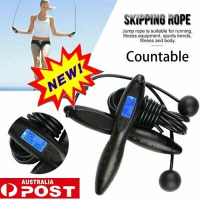 AU21.92 • Buy Digital LCD Jump Jumping Skipping Rope Calorie Count Counter Timer Gym Fitness&H