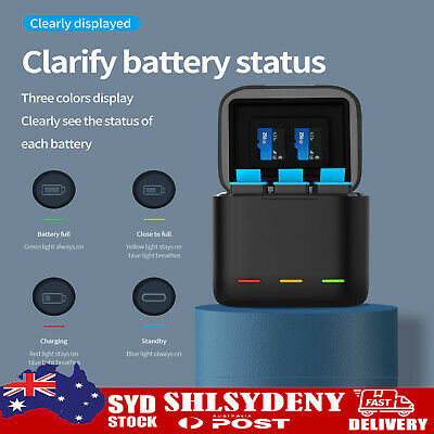 AU27.99 • Buy Telesin Battery Storage Charging Box Fits For Gopro Hero9 AU