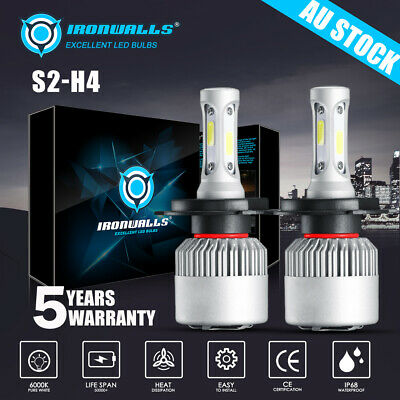 AU39.99 • Buy H4 9003 2000W 300000LM LED Headlight Kit Lamp Bulbs Globes High Low Beam Upgrade