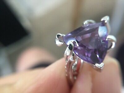AU155 • Buy Certified Alexandrite 7.0Ct Ring On Solid 925 Sterling Silver Size 7 US Designer