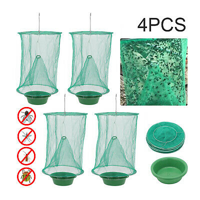AU14.59 • Buy 4 PCS Ranch Fly Trap Insect Killer Net Cage Outdoor Bug Pest Hanging Catcher
