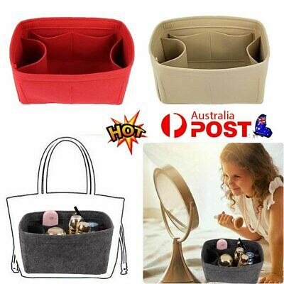 AU12.74 • Buy Travel Organiser Handbag Felt Bag Tote Insert Liner Purse Pouch Women Storage HG